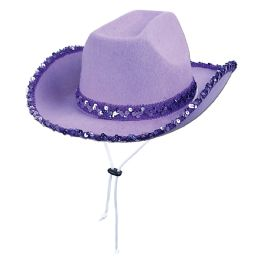 6 Units of Sequined Cowgirl Hat one size fits most - Costumes & Accessories