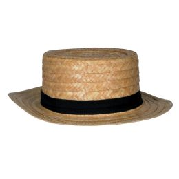 12 Units of Straw Skimmer Hat One Size Fits Most - Sun Hats