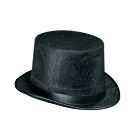 12 Units of Vel-Felt Top Hat black; one size fits most - Costumes & Accessories