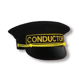 6 Units of Conductor Hat one size fits most - Costumes & Accessories