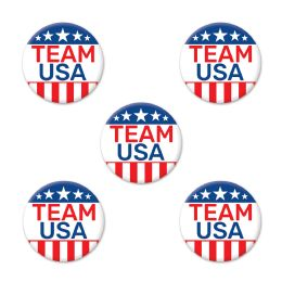12 Units of Team Usa Party Buttons - Party Novelties