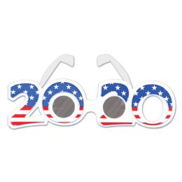 12 Units of 2020 Patriotic Plastic Eyeglasses One Size Fits Most - 4th Of July