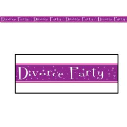 12 Units of Divorce Party Party Tape AlL-Weather Poly Material - Party Novelties