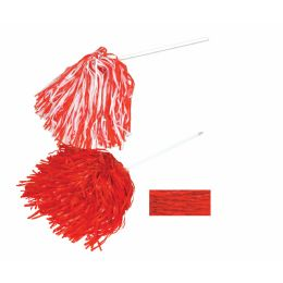 144 Units of Poly Shaker - 512 Strand Red; Order In Solid, 2- Or 3-Color Combination - Costumes & Accessories
