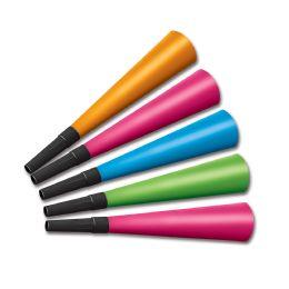100 Units of Neon Horns Asstd Colors - Party Supplies