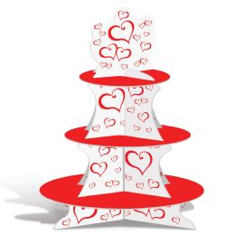 12 Units of Valentine Cupcake Stand assembly required - Store