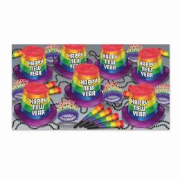 Pride Asst For 50 Glitter Print - Party Supplies