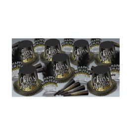 Silver & Gold Cheers To Ny Asst For 50 - Party Supplies