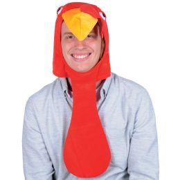 12 Units of Plush Turkey Head Hat One Size Fits Most - Plush Toys