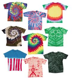 36 Units of ADULT TIE-DYE T-SHIRTS IN ASSORTED COLORS SIZE XL - Unisex Apparel