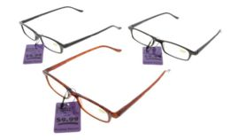48 Units of Assorted Color Rectangular Reading Glasses - Reading Glasses