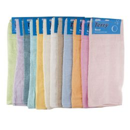 72 Units of Bath Towel Carded Assorted Colors - First Aid and Hygiene Gear