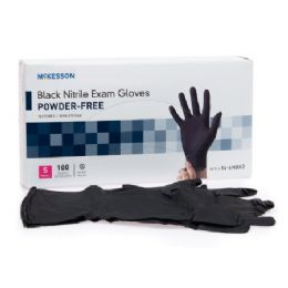 1000 Units of Black Nitrile Exam Gloves Textured Non Sterile Size Large - PPE Gloves