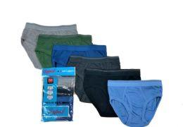 36 Units of Boy's Cotton Color Briefs Size M - Boys Underwear
