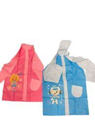 24 Units of Boy's Raincoat With Hood Blue Only - Umbrellas & Rain Gear