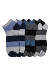 432 Units of Boy's Spandex Ankle Socks Size 6-8 - Boys Ankle Sock