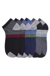 432 Units of Boys Ankle Sock Multi Color Design Size 6-8 - Boys Ankle Sock