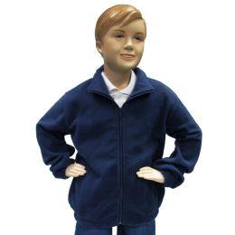 12 Units of Boys Full Zip Polar Fleece Jacket Size 18 Only - Boys Sweaters