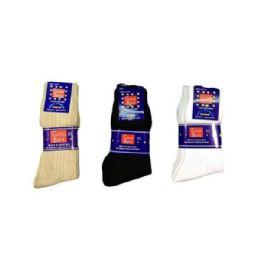 144 Units of Boys Nylon Dress Socks Size 4-6 In White - Boys Crew Sock