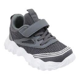 36 Units of Boys Sneaker Casual Sports Shoe In Gray - Boys Sneakers