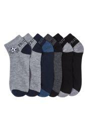 432 Units of Boys Spandex Ankle Socks Size 4-6 - Boys Ankle Sock