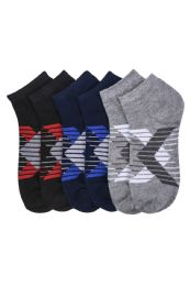 216 Units of Boys Spandex Ankle Socks Size 6-8 - Boys Ankle Sock