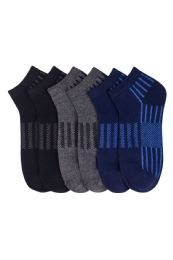 432 Units of Boys Spandex Ankle Socks Size 6-8 - Boys Ankle Sock