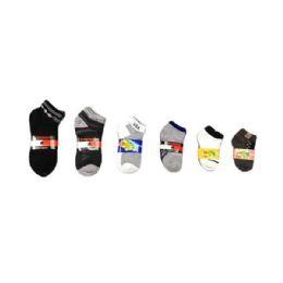 144 Units of Boys Spandex Socks Size 9-11 - Boys Ankle Sock