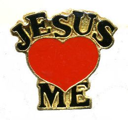 "96 Units of Brass Hat Pin, ""Jesus (loves) Me - Hat Pins & Jacket Pins"