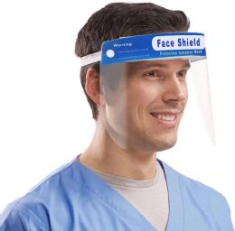 100 Units of Clear Medical Full Face Protection Shield With Elastic Band - First Aid and Hygiene Gear
