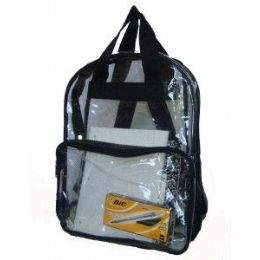 120 Units of Clear Pvc Backpack - Assorted Colors - Backpacks 17""