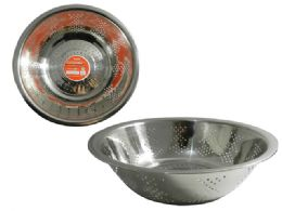 """48 Units of COLANDER 9""""DIA X 2.75""""H - Strainers & Funnels"""