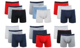 36 Units of Cotton Stretch Men's Boxer Short Assorted Colors Size L - Mens Underwear