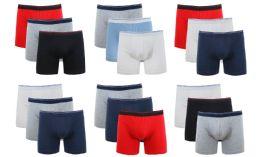 36 Units of Cotton Stretch Men's Boxer Short Assorted Colors Size 2XL - Mens Underwear