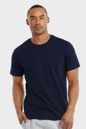 30 Units of COTTONBELL MEN'S CREW NECK T SHIRT IN NAVY SIZE MEDIUM - Mens T-Shirts