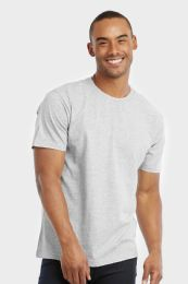 30 Units of COTTONBELL MEN'S CREW NECK T SHIRT IN GREY SIZE LARGE - Mens T-Shirts