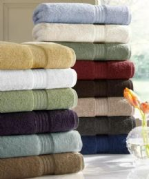 6 Units of Designer Luxury Heavy Weight 100 Percent Egyptian Bath Towel In White - Bath Towels