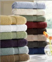 6 Units of Designer Luxury Heavy Weight 100 Percent Egyptian Bath Towel In Plum - Bath Towels