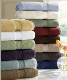 6 Units of Designer Luxury Heavy Weight 100 Percent Egyptian Bath Towel In Ivory - Bath Towels