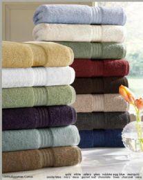 6 Units of Designer Luxury Heavy Weight 100 Percent Egyptian Bath Towel In Navy - Bath Towels