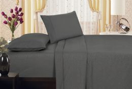 6 Units of Embossed Vine Sheet Set King Size In Assorted Colors - Sheet Sets