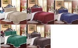 4 Units of Fantasia Sherpa Blanket Queen Size In Sage Green Color - Fleece & Sherpa Blankets