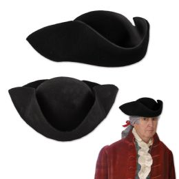 48 Units of Felt Tricorn Hat One Size Fits Most - Party Hats & Tiara