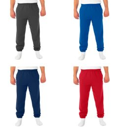 36 Units of FRUIT OF THE LOOM CLOSED BOTTOM SWEATPANTS WITH POCKETS SIZE L - Mens Sweatpants