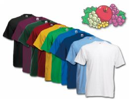 72 Units of Fruit Of The Loom Mens 100% Cotton Assorted T Shirts, Assorted Colors Size Large - Mens T-Shirts