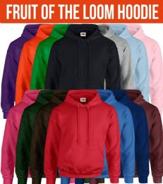 24 Units of Fruit Of The Loom Mens Hoodies Size 2XL BULK BUY - Mens Sweat Shirt