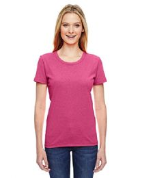 72 Units of Fruit Of The Loom Womens Assorted Color Crew Neck T Shirts, Size L - Women's T-Shirts