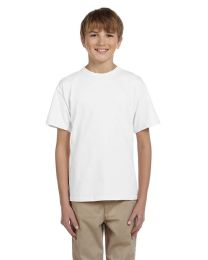 72 Units of Fruit Of The Loom Youth Boys White T Shirts - Size 6/8 - Boys T Shirts