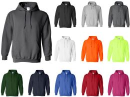 24 Units of Gildan Adult Hoodies Assorted Color And Sizes - Apparel Gear