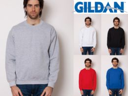 36 Units of Gildan Mens Assorted Colors Irregular Fleece Sweat Shirts Size Med - Mens Sweat Shirt